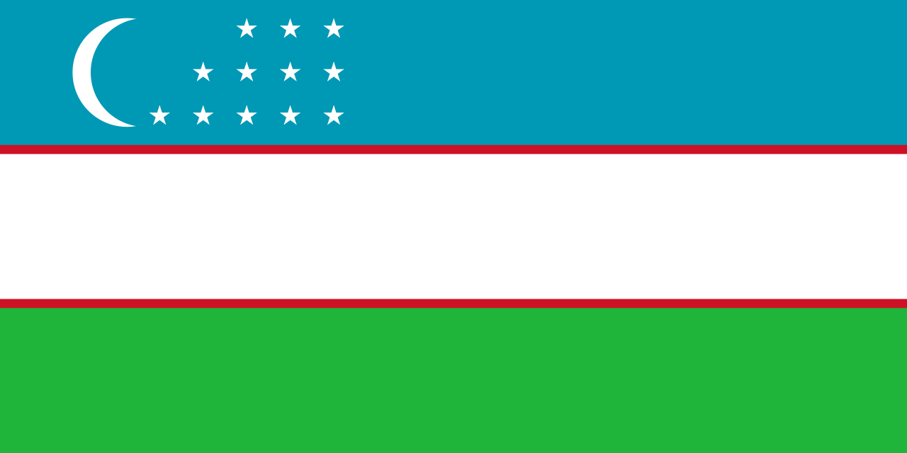 National flag of Uzbekistan